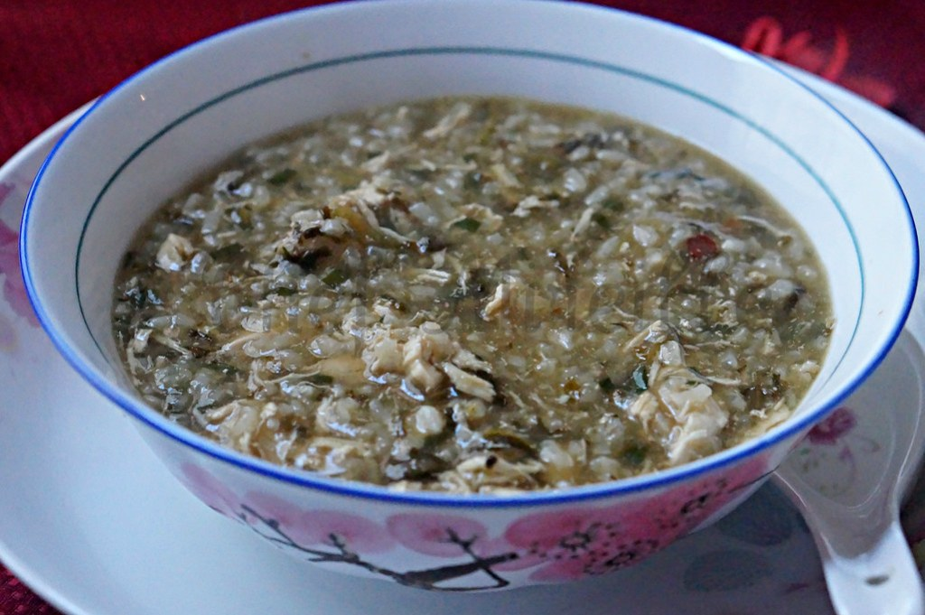 how to cook chinese rice porridge