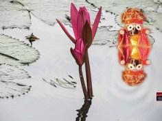 ପ୍ରହଲାଦ ପିତା ସେ ଜେ ବଡ ଦୁଷ୍ଟ ଦାରୁଣ - emerging from the pillar, tore Hiranyakasipu - Ahe Nila saila Prabala mata barana