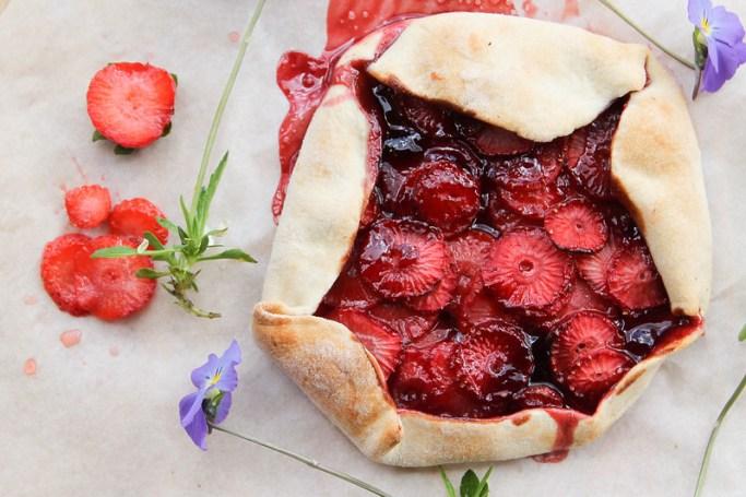 Tarte aux fraises rustique