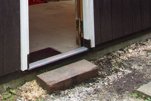 Rain Gutter for Garage Back Door