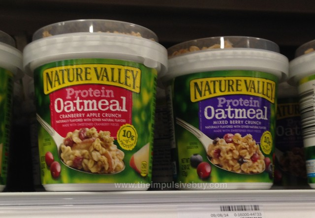 Nature Valley Protein Oatmeal (Cranberry Apple Crunch and Mixed Berry Crunch)