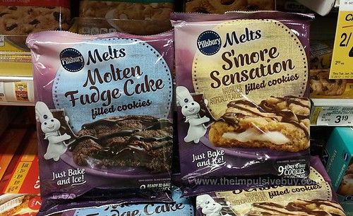 Pillsbury Melts Filled Cookies (S'more Sensation and Molten Fudge Cake)