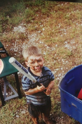 Brandon was a magnet for mud puddles.