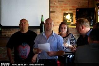 Het team achter The Maple Cask Owners: Ales, Tino, Cindy en Geert