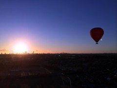 Flying at Gold Coast