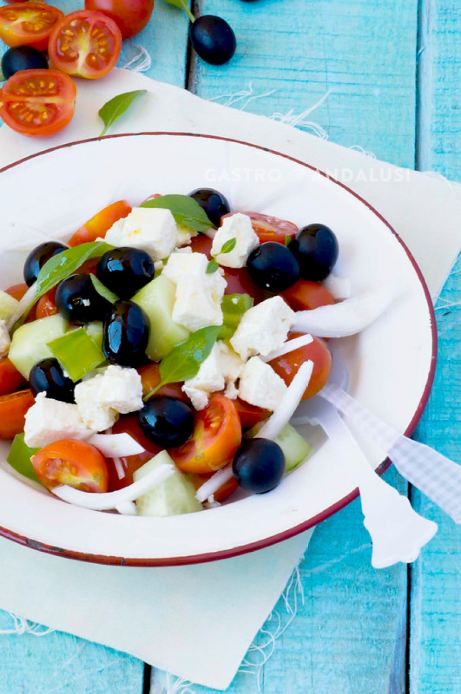 ensalada griega receta clasica
