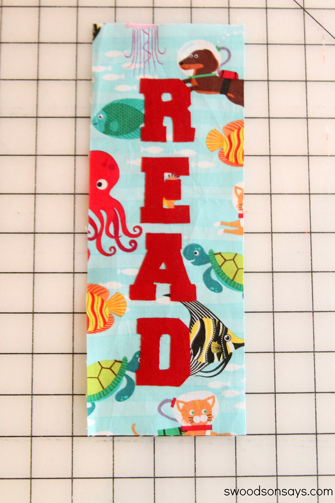No Sew Toddler Bookmark S Woodson Says | Mabey She Made It | #reading #nosew #bookmark