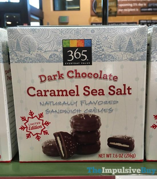 365 Everyday Value Limited Edition Dark Chocolate Caramel Sea Salt Sandwich Cremes