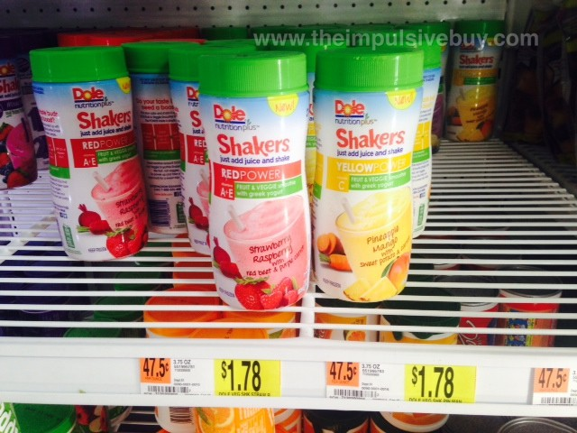 Dole Shakers Red Power and Yellow Power
