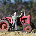 Case VAI tractor, 1/35, finished.
