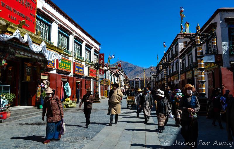 Pilgrims in Lhasa.