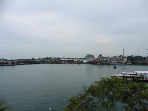 Mirador gratis, situado en Vivo City, en Singapur