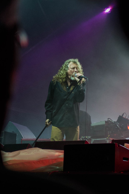 Robert Plant at Glastonbury Abbey