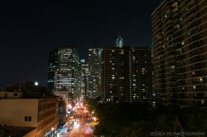 New York at Night from Brooklyn Bridge