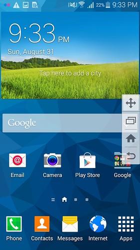 Side key panel บน Samsung Galaxy Mega 2