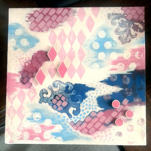 Vivayne mixed media art bubblegum dreams abstract