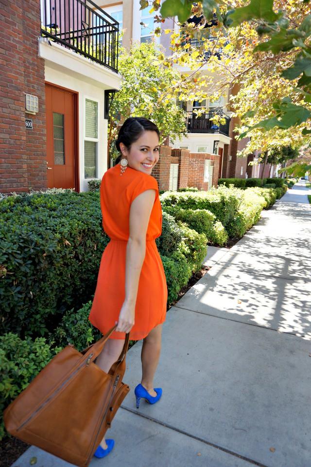 Orange and Cobalt heels 4