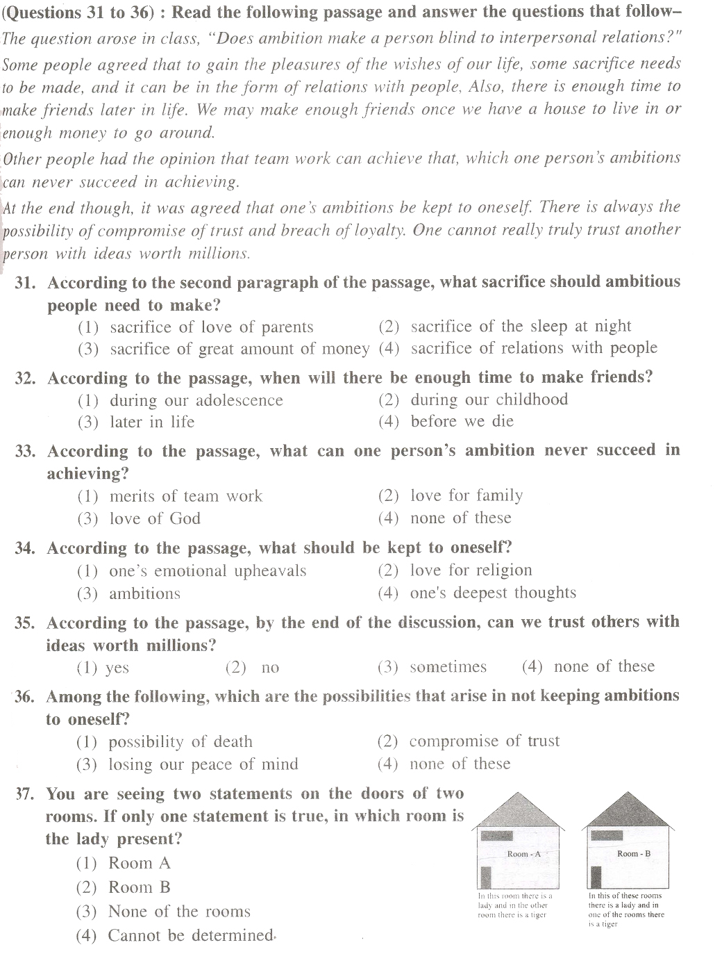 Test Paper For English Grade 7 College Paper Sample