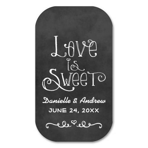 Wedding Favor Tag | Black Chalkboard Charm Business Card Templates