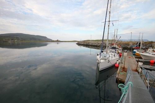 Fin kai i havna på Måsøya
