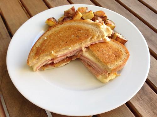 Ham and Swiss sandwiches