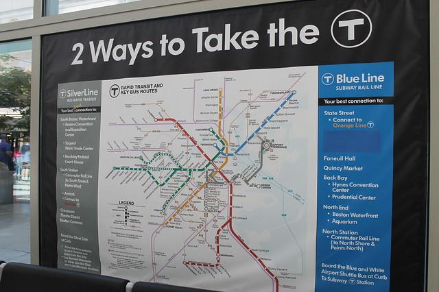 Plano del metro de Boston