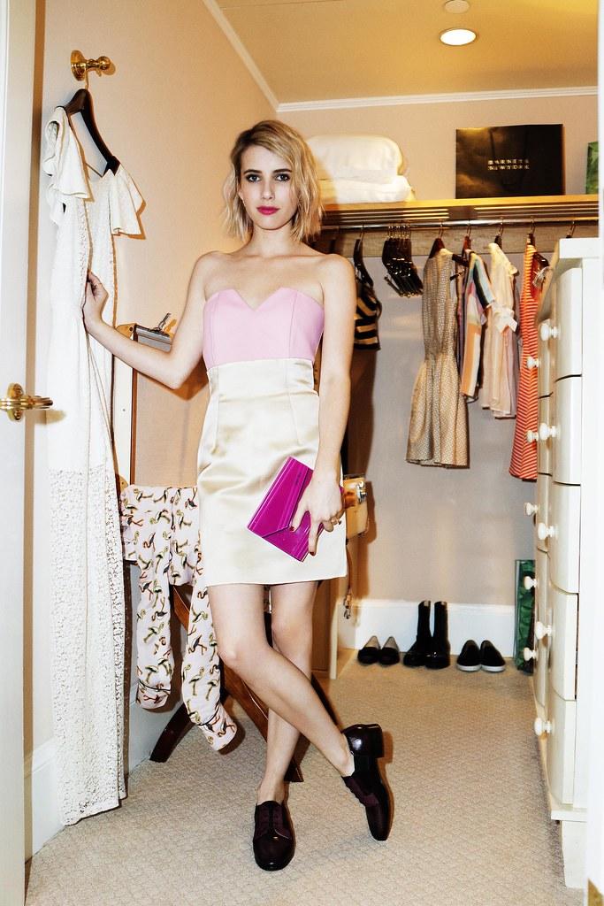 Emma Roberts wears Memo