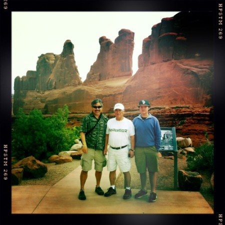 Three generations at Arches