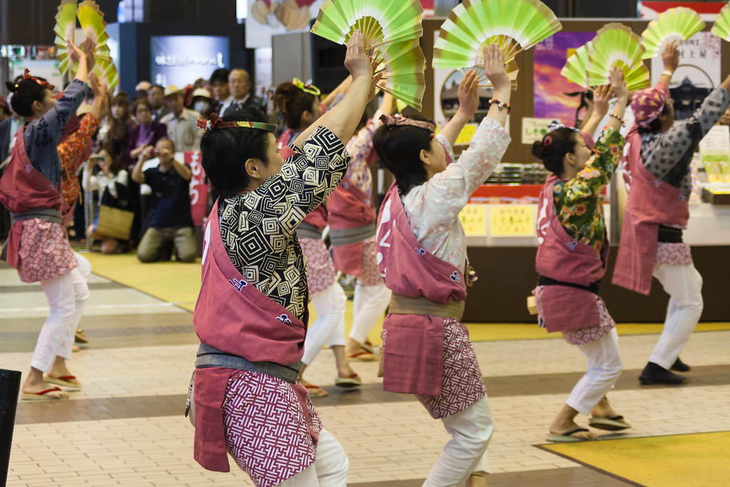 Dancers at Sendai Station