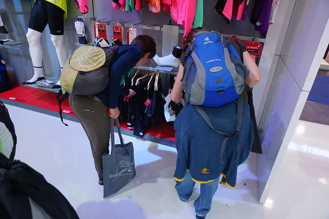 Clothes shopping at Eurobike 2014