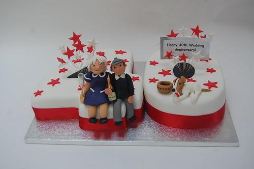 40th Wedding Anniversary Cake Beautiful Birthday Cakes