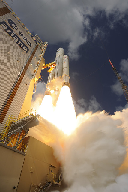 Ariane 5 liftoff on flight VA233