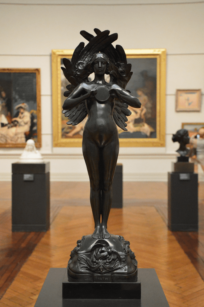 Art Gallery of NSW, Sydney, Australia, truth winged statue
