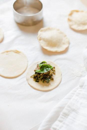 Pesto, Lentil and Basil Hand Pies