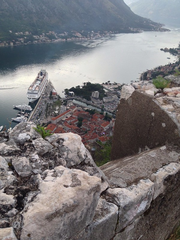 View of Kotor from the top of the fortress
