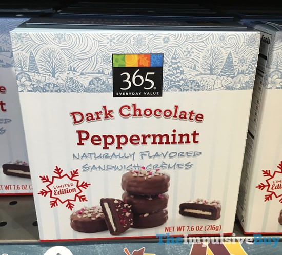 365 Everyday Value Limited Edition Dark Chocolate Peppermint Sandwich Cremes