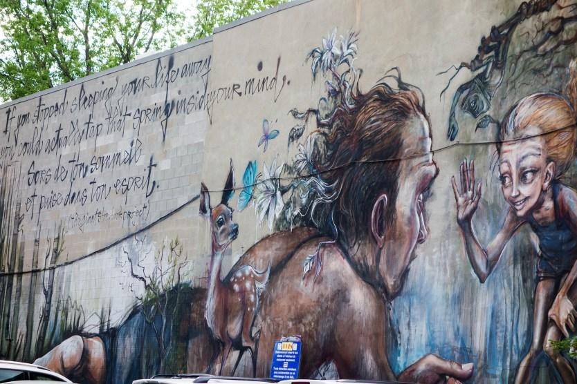 Through the Wall - Mural