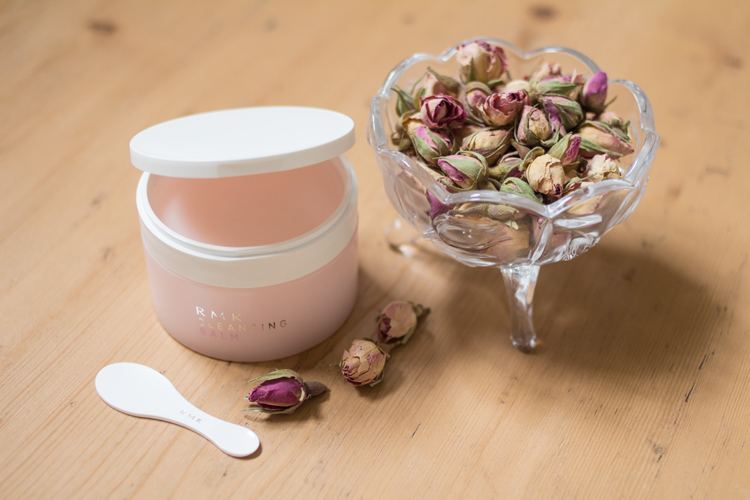 RMK Cleansing balm and rose buds