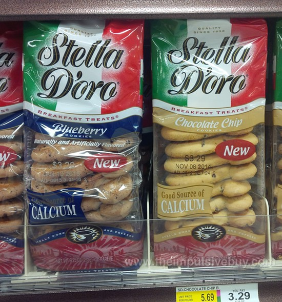 Stella D'oro Breakfast Treats Blueberry Cookies and Chocolate Chip Cookies