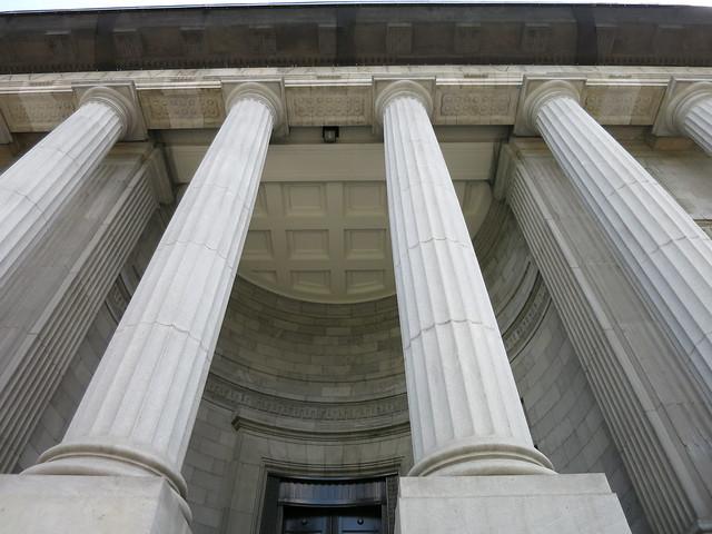 Old Quebec City columns