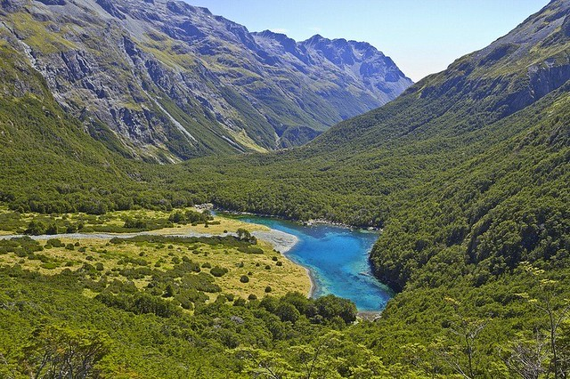 Blue Lake in New Zealand