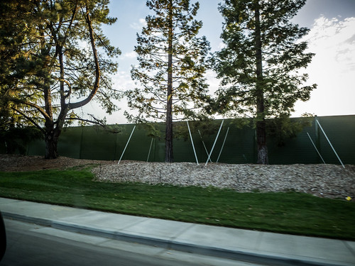 New Apple Headquarters behind fence