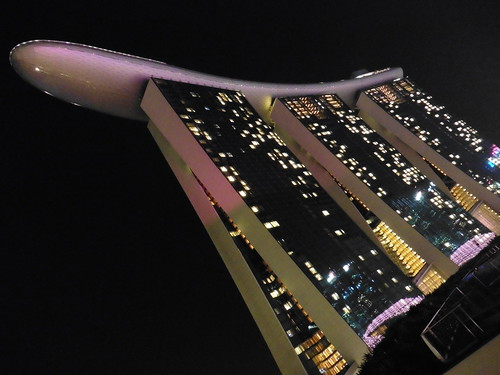 Mirador gratis, situado en The Shoppes at Marina Bay Sands, en Singapur