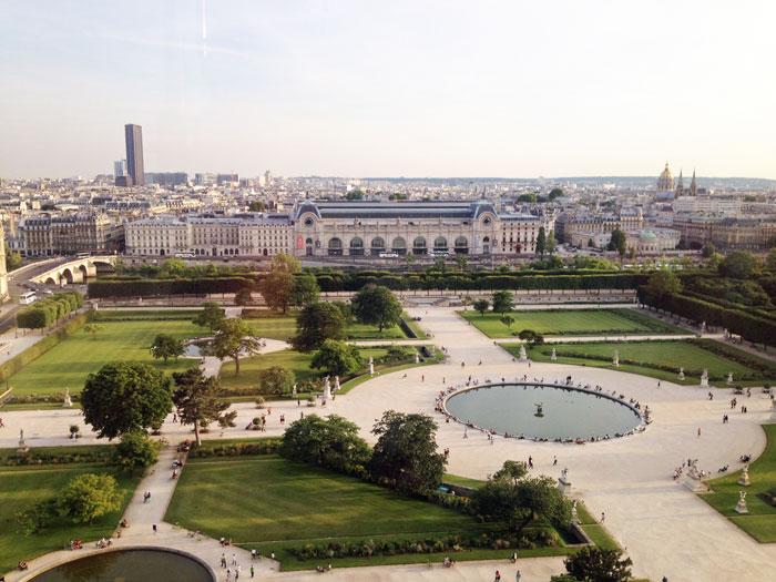 Fête Foraine des Tuileries - vue du haut de la grande roue