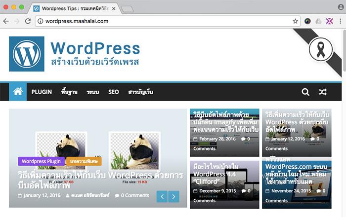 Wordpress Black Ribbon