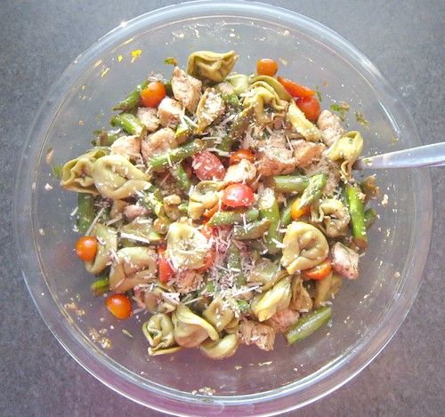 Chicken & Tortellini Salad with Basil-Balsamic Vinaigrette