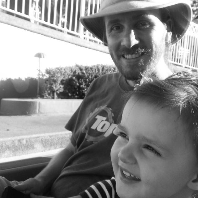 She's a daddy's girl... #itsasmallworld #Disneyland
