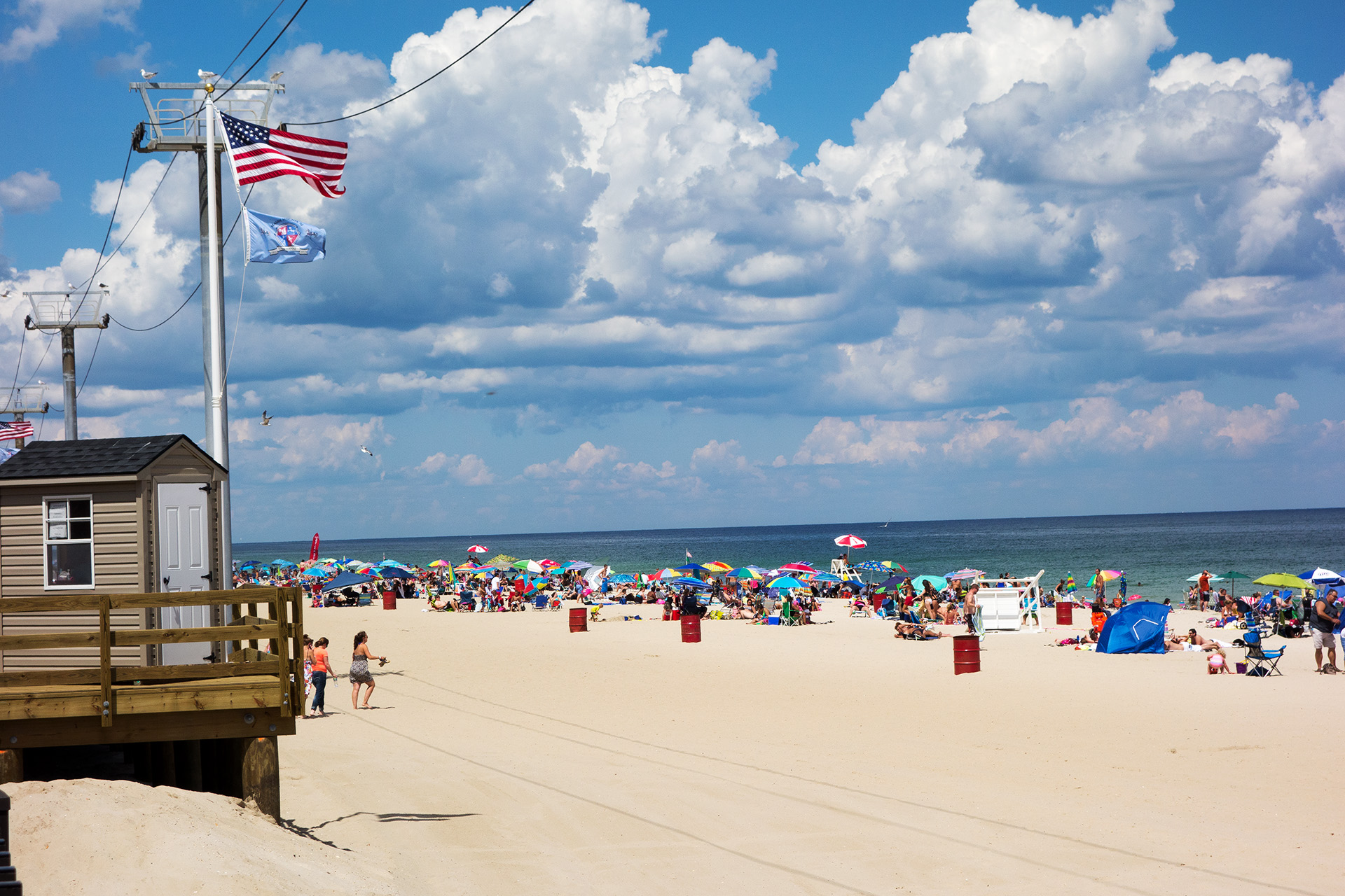 The beach at Seaside Heights, NJ.