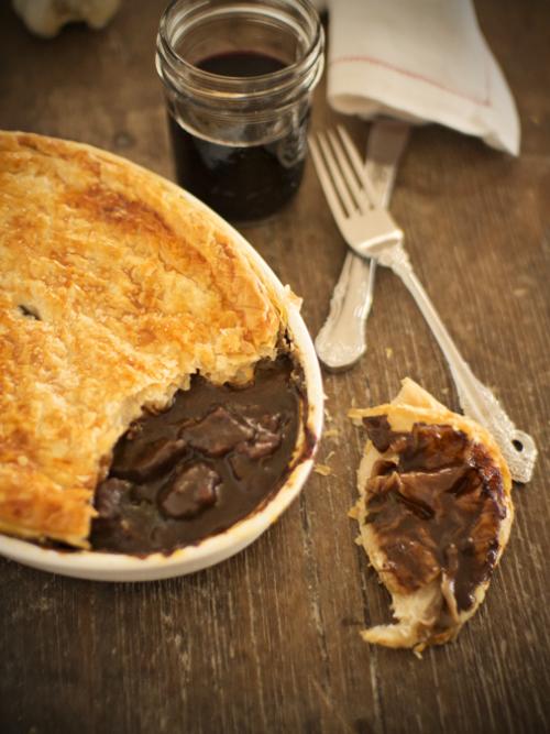 beef and shiraz pie
