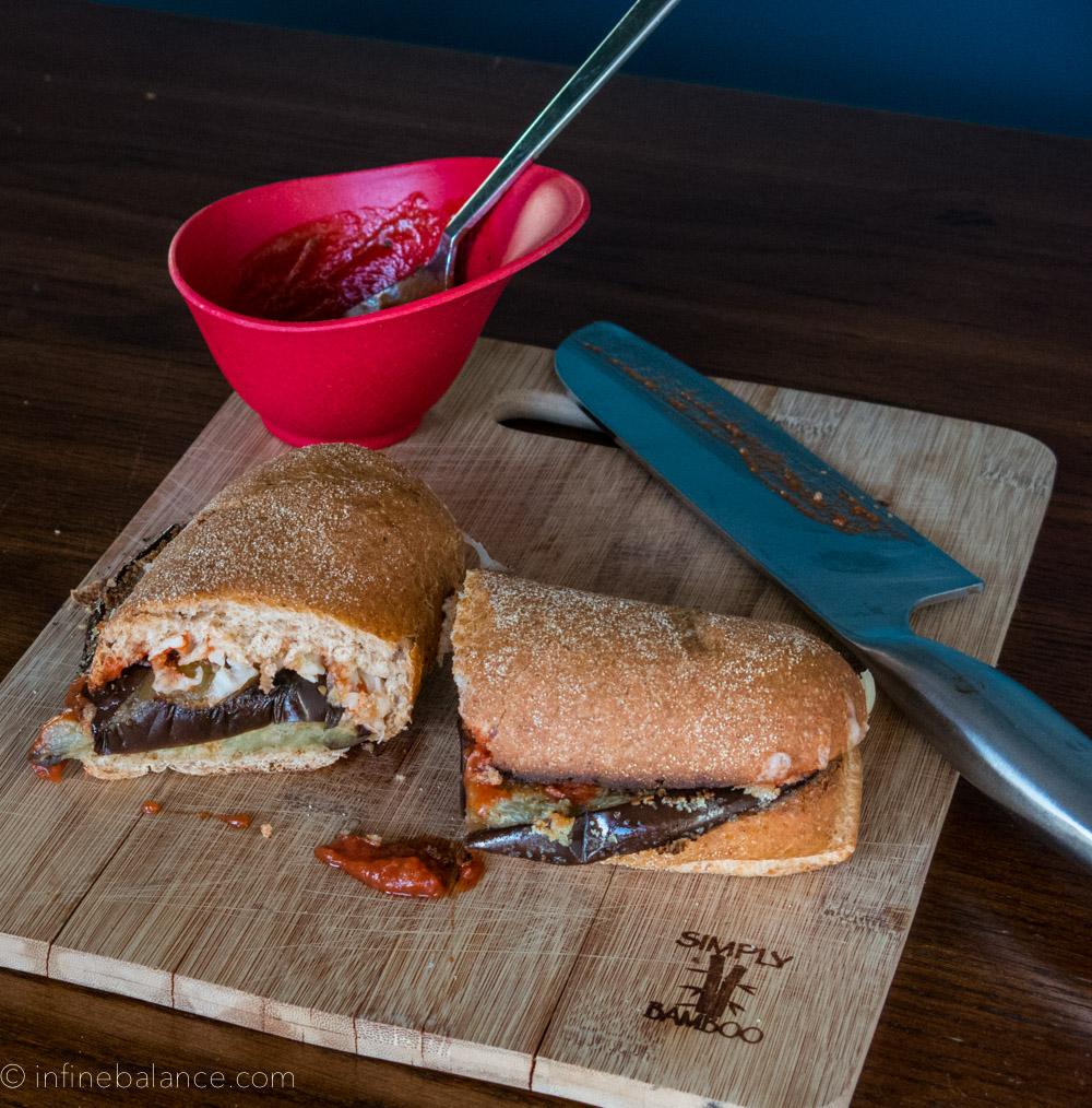 Eggplant Parm Pizzaburger | #meatlessmonday #recipe